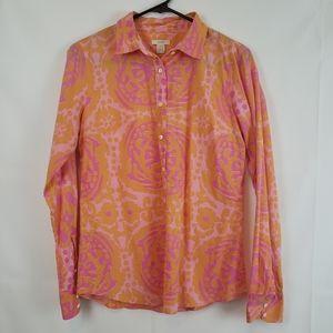 J crew Women's Button down Paisley cotton shirt  6